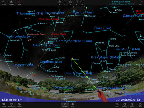 TheSky star chart